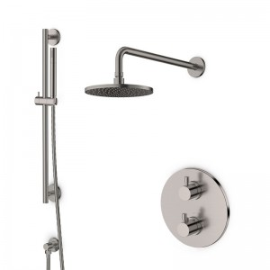 Pack douche encastré thermostatique inox brossé LOOP 7