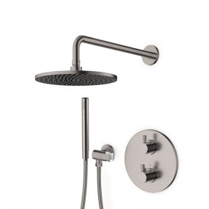 Pack douche encastré thermostatique inox brossé LOOP 8