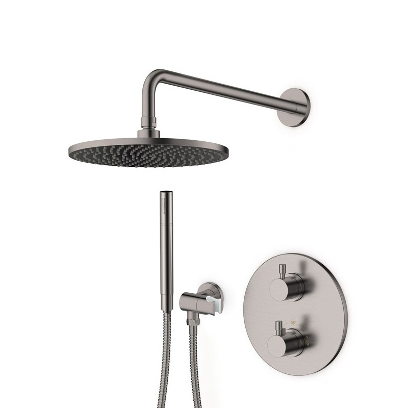 Pack douche encastré thermostatique inox brossé LOOP 9