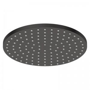 Douche de tête ø 20 cm en laiton noir mat