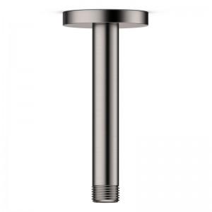Bras de douche vertical 14 cm en inox brossé