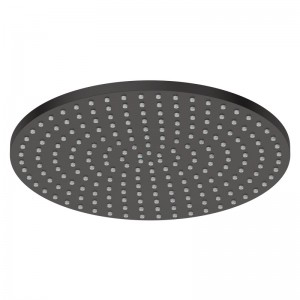 Douche de tête ø 25 cm en laiton noir mat