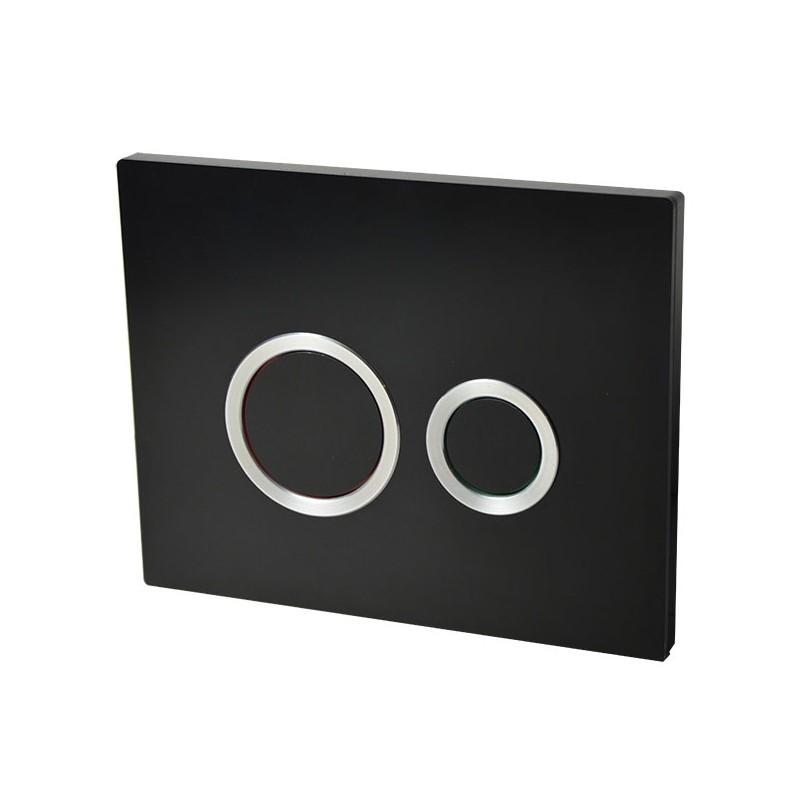 Plaque de commande double chasse HOOP Noir Mat pour bâti-support WIRQUIN