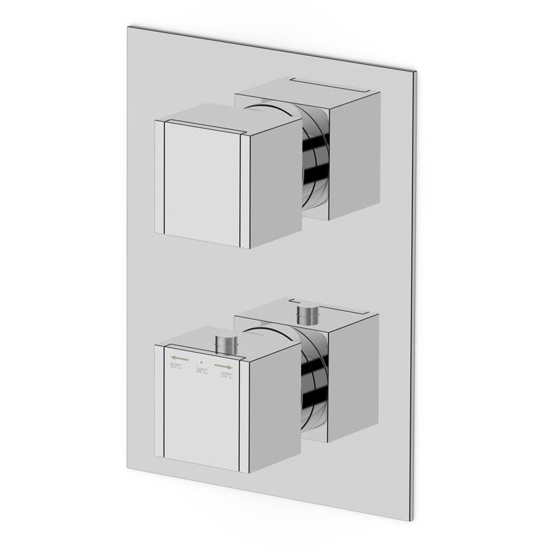 Mitigeur thermostatique mural 3 sorties pour douche