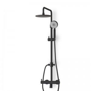 Colonne douche thermostatique noir mat avec douchette