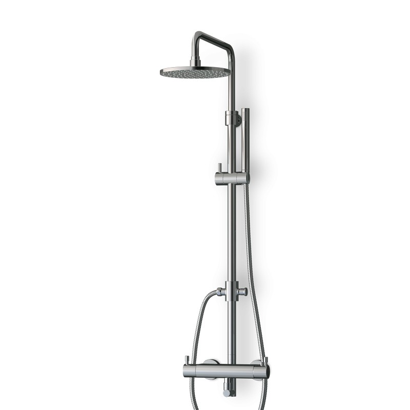Colonne douche thermostatique chromée avec douchette