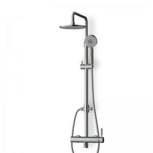 Colonne douche / douchette chromée avec mitigeur