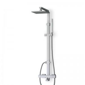 Colonne douche thermostatique chromée KUBIK avec douchette