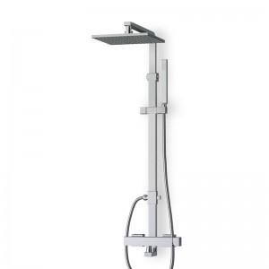 Colonne douche / douchette chromée avec mitigeur KUBIK