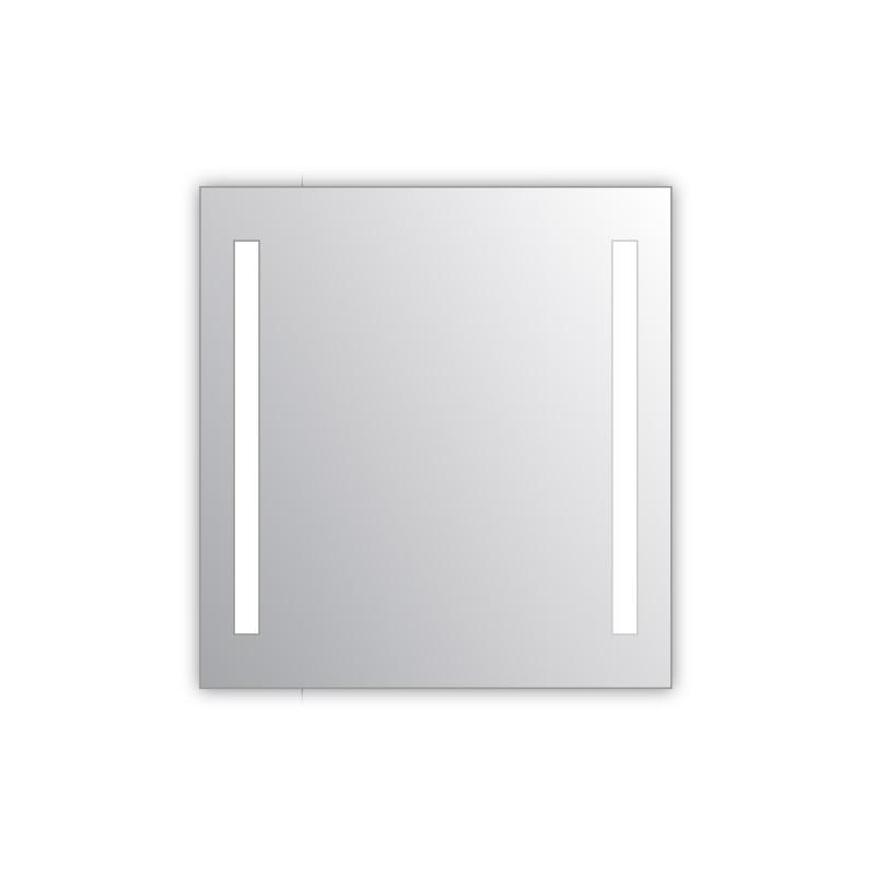 Miroir salle de bain VISIO 70x75 cm avec rétroéclairage LED et prises électriques