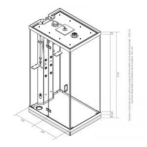 Dimensions de la cabine