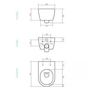 Dimensions de la cuvette