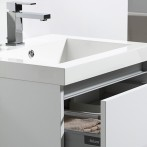 Vasque en marbre de synthèse blanc avec trop-plein