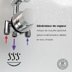 Générateur de vapeur 3000W avec alimentation dédiée en eau chaude pour un temps de chauffe optimal
