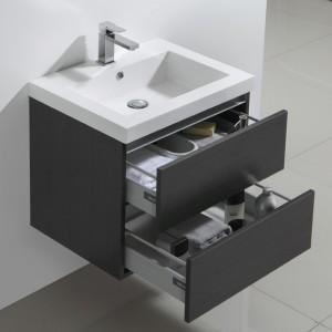 Meuble salle de bain 60 cm CITY avec 2 grands tiroirs