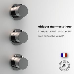 Robinetterie thermostatique en laiton chromé haute qualité
