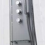 Robinetterie thermostatique haute qualité | Support douchette en laiton chromé | Tablette