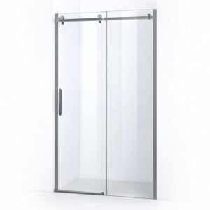 Porte de douche avec ouverture coulissante sur rail et parois en verre épaisseur 8mm