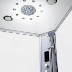 Pluie tropicale 95 jets | Brumisateurs | Chromothérapie LED | Haut-parleur | Ventilation