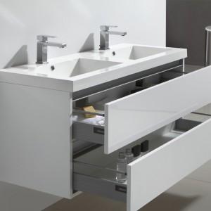 Vasques avec trop-plein, tiroirs BLUM METABOX avec frein de fermeture