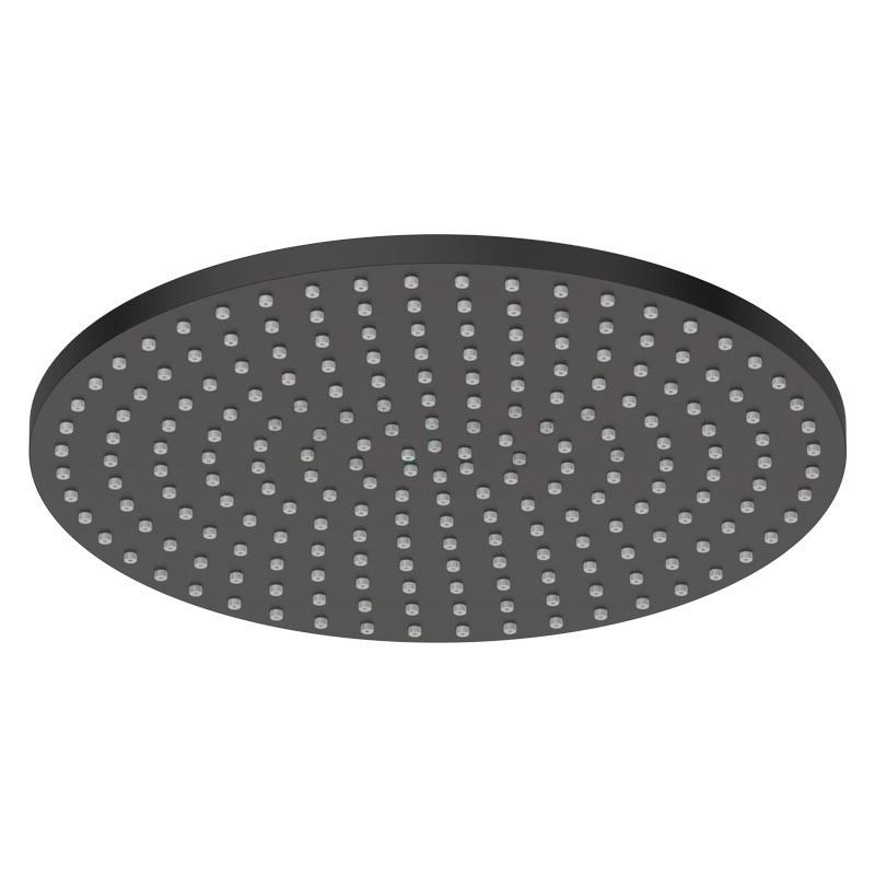 Pomme de douche en laiton noir mat