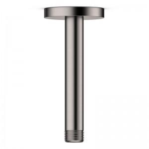 Bras vertical en inox brossé pour alimentation douche de tête