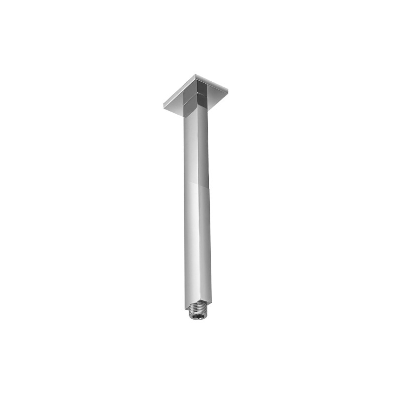 Bras vertical en laiton chromé pour alimentation douche de tête