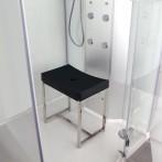Siège pour douche avec ossature inox