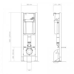 Dimensions du bâti-support