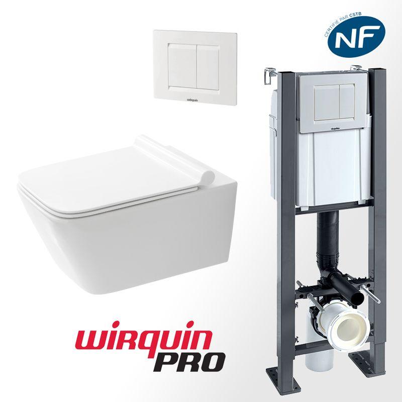 Pack WC suspendu avec bâti-support autoportant WIRQUIN PRO