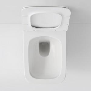 Large assise grâce à la forme rectangulaire de la cuvette
