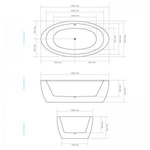 Dimensions de la baignoire