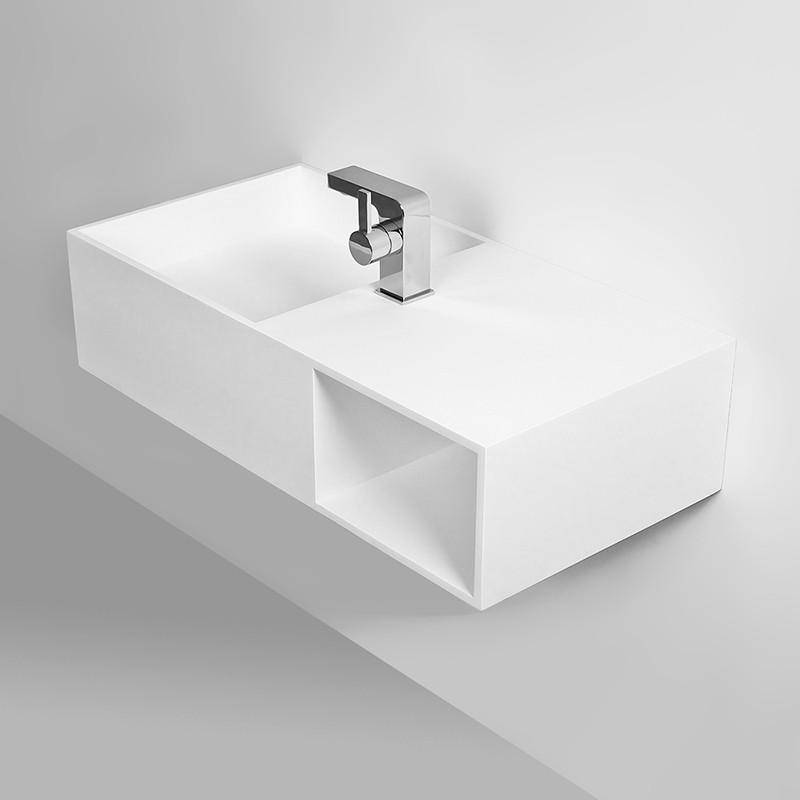 Vasque KUBE 80 en Solid Surface