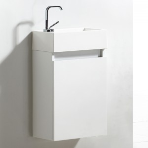 Meuble lave-mains 40 cm FLYER blanc laqué
