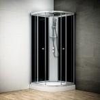 Cabine douche intégrale SILVER 1/4 de rond avec vitres noires