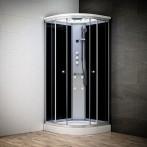 Cabine douche hydromassage SILVER 1/4 de rond avec vitres noires