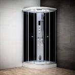 Cabine douche hammam SILVER 1/4 de rond avec vitres noires