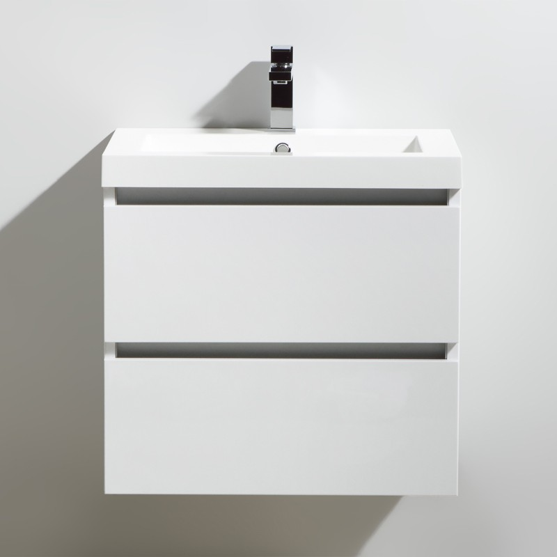 Meuble salle de bain 60 cm CITY blanc laqué