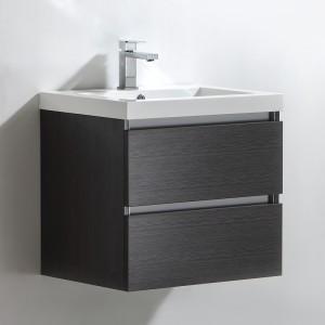 Meuble salle de bain 60 cm CITY gris