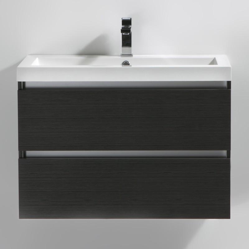 Meuble salle de bain 80 cm CITY gris