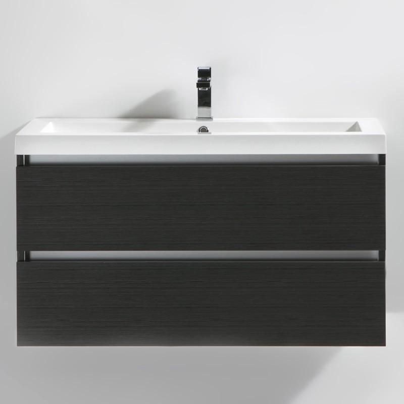 Meuble salle de bain 100 cm CITY gris