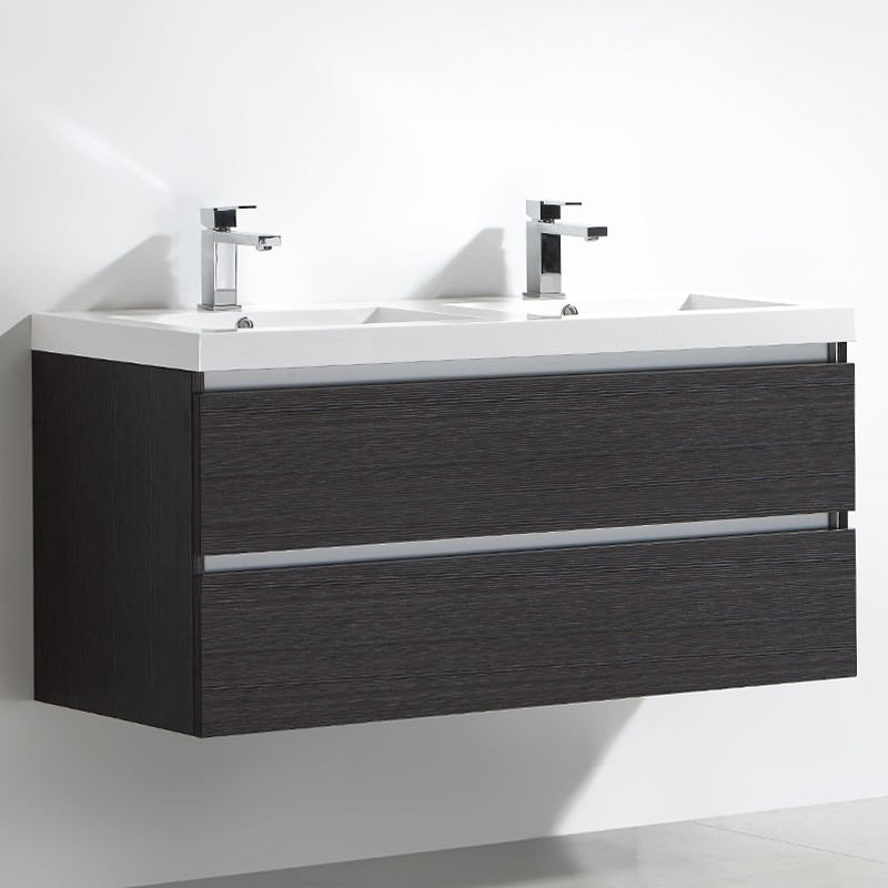 Meuble salle de bain double vasque 120 cm CITY gris