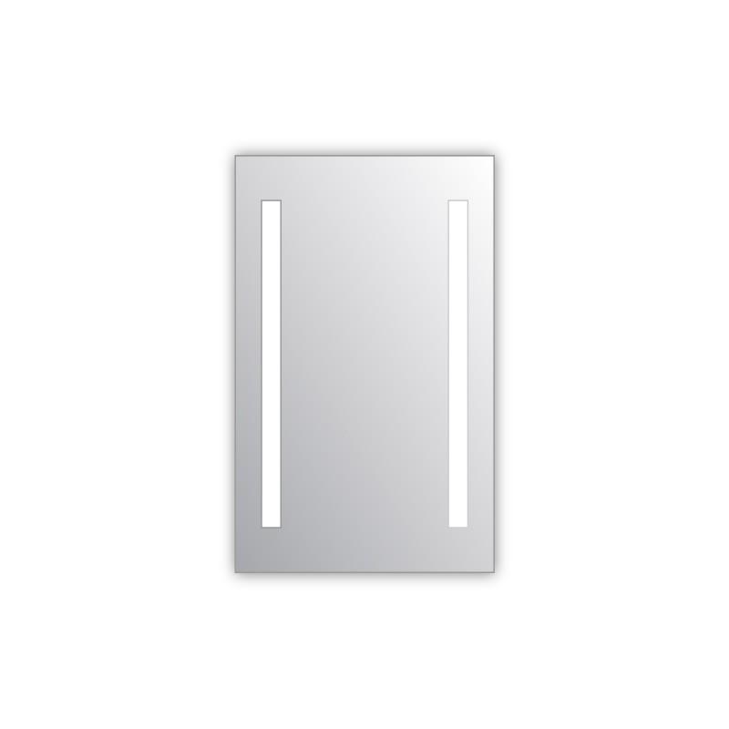 Miroir salle de bain VISIO 40x75 cm avec rétroéclairage LED et prises électriques