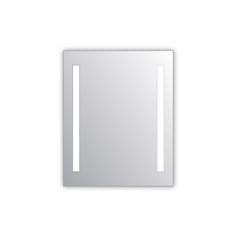 Miroir salle de bain VISIO 60x75 cm avec rétroéclairage LED et prises électriques