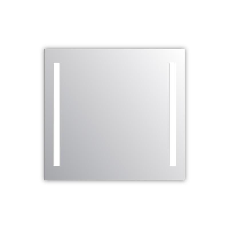 Miroir salle de bain VISIO 80x75 cm avec rétroéclairage LED et prises électriques