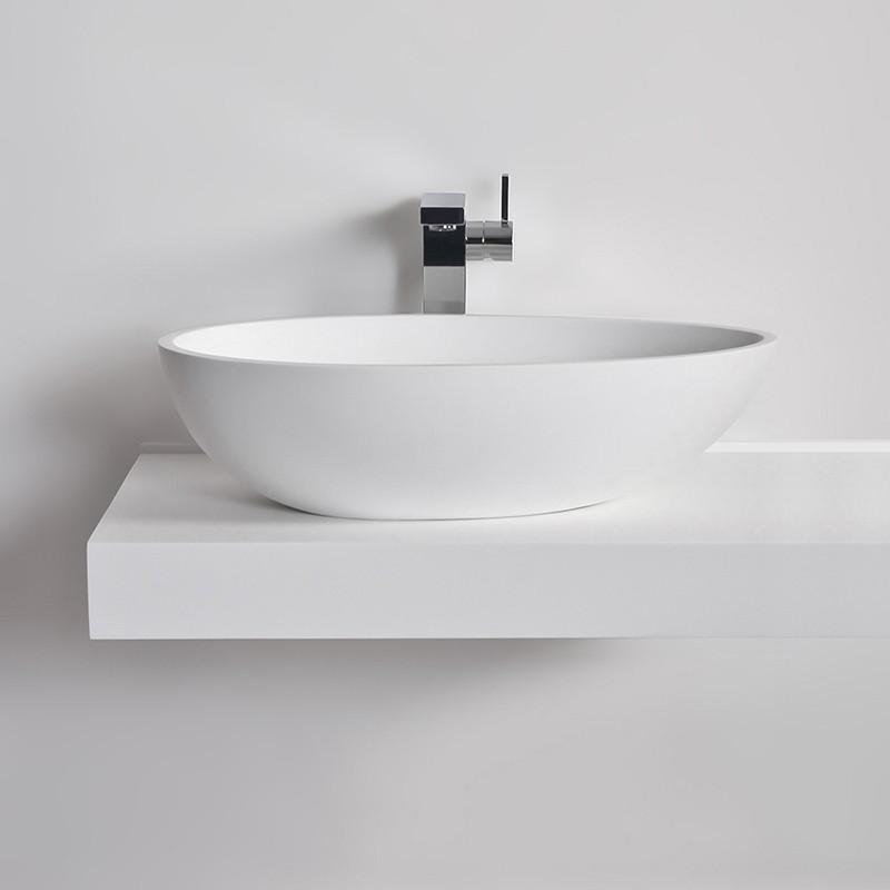 Vasque ovale COCOON en Solid Surface
