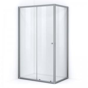 Paroi de douche d'angle 130 x 100 cm avec ouverture coulissante
