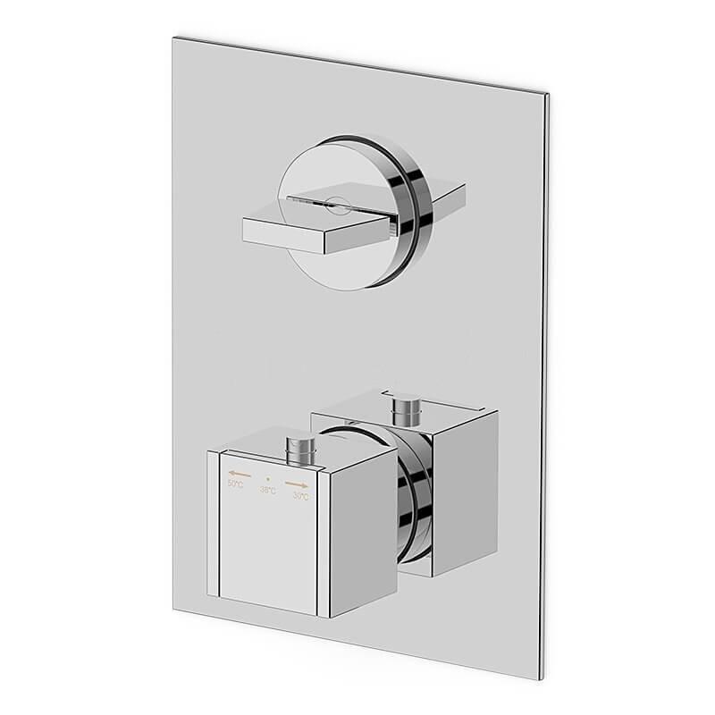 Mitigeur thermostatique mural 1 sortie pour douche
