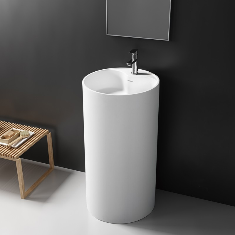 Lavabo vasque colonne TOTEM 45 en Solid Surface
