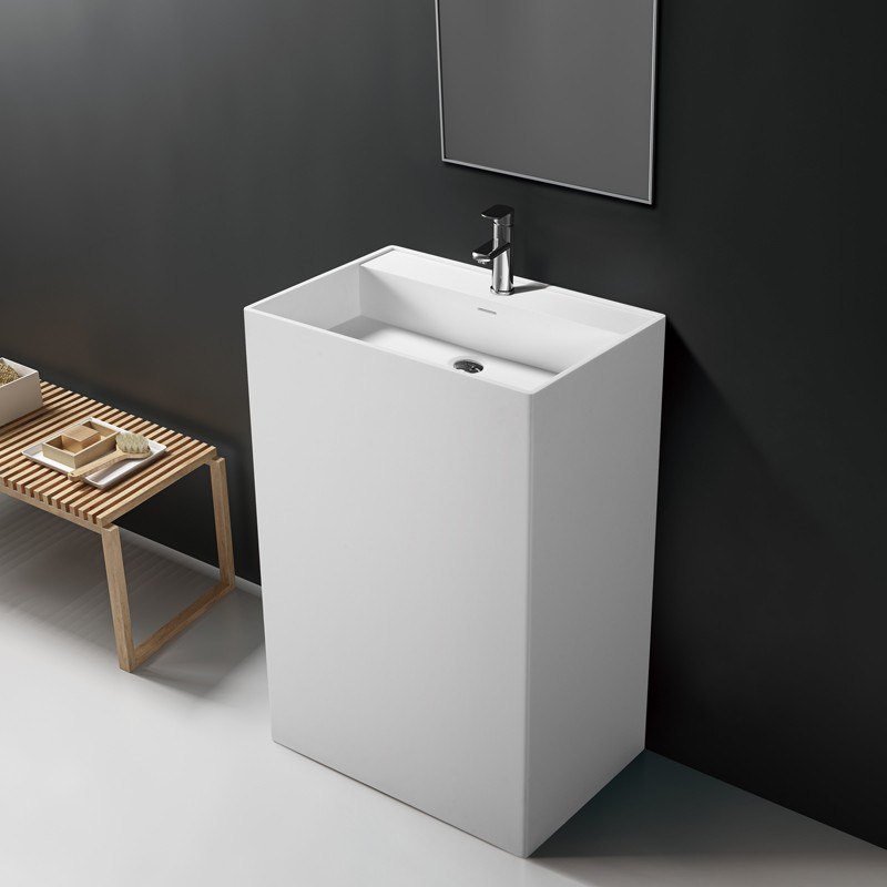 Lavabo vasque colonne TOTEM 60 en Solid Surface